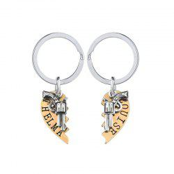 Revolver  Stitching Couple Key Chain -