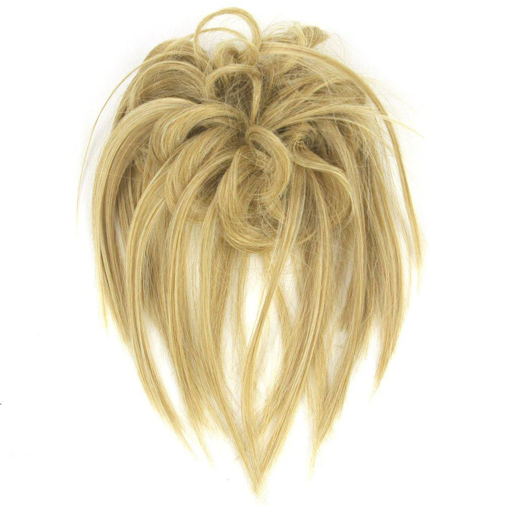 Chic Trendy Hair Ring High Temperature Wire Wig Flower Bud
