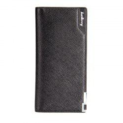 Baellerry Creative Long Casual Bussiness Trifold PU Leather Wallet Credit Card Holder -