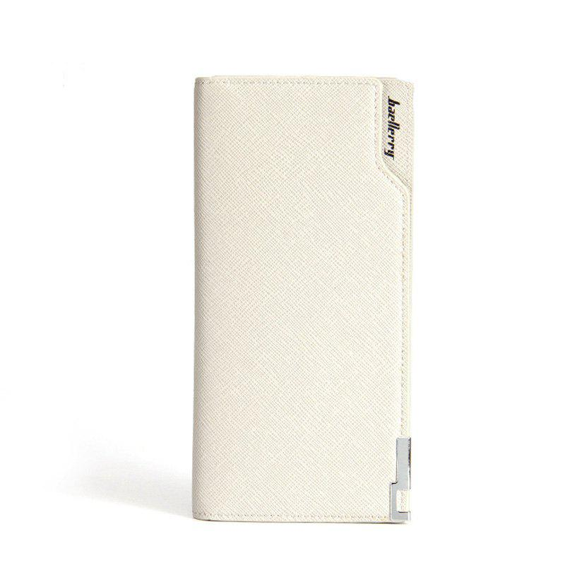 Online Baellerry Creative Long Casual Bussiness Trifold PU Leather Wallet Credit Card Holder