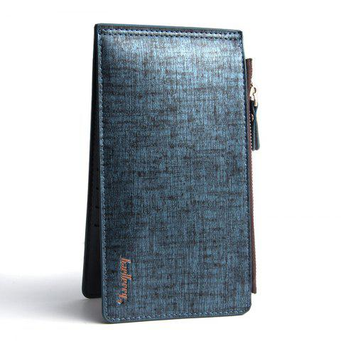 Store Korean Style Multi-Function Trifold PU Leather Long Wallet Double Zips Credit Card Holder