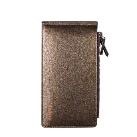 Best Baellerry Korean Style Multi-Function Trifold PU Leather Long Wallet Double Zips Credit Card Holder