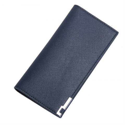 Fancy Baellerry Long Ultra Thin Soft Leather Bifold Wallet Durable Credit Card Holder for Men