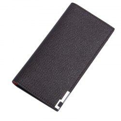 Long Ultra Thin Soft Leather Bifold Wallet Durable Credit Card Holder for Men -