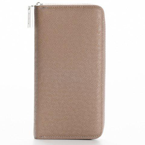 Outfit Korean Style long Zip PU Leather Bussiness Wallet Credit Card Holder