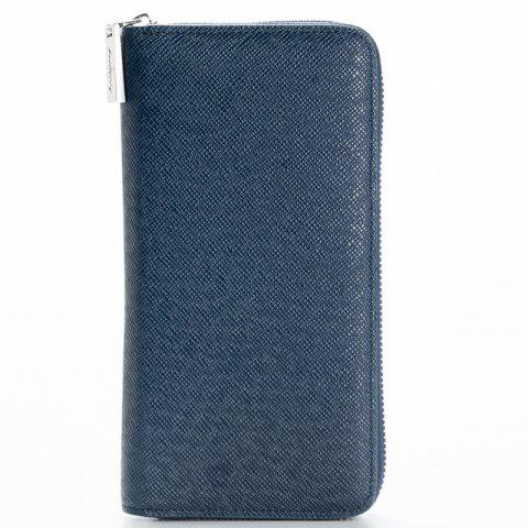 Discount Korean Style long Zip PU Leather Bussiness Wallet Credit Card Holder