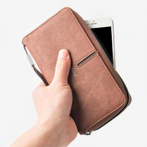 Multi-Function Men's Hand Bag PU Leather Long Zipper Wallet Credit Card Holder -