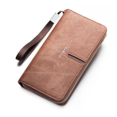 Discount Multi-Function Men's Hand Bag PU Leather Long Zipper Wallet Credit Card Holder