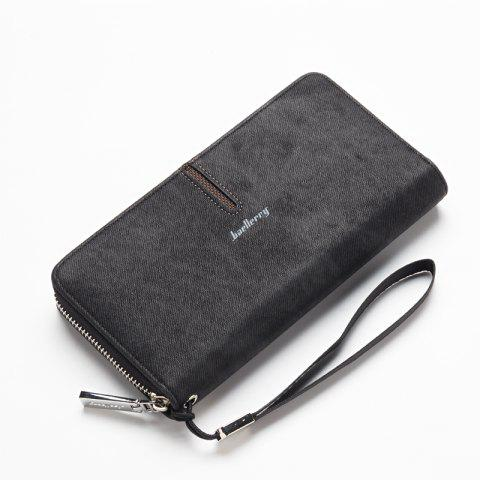 Fashion Baellerry Multi-Function Men's Hand Bag PU Leather Long Zipper Wallet Credit Card Holder