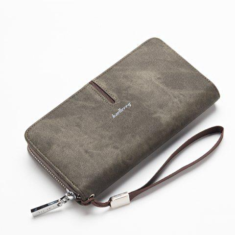 Online Baellerry Multi-Function Men's Hand Bag PU Leather Long Zipper Wallet Credit Card Holder