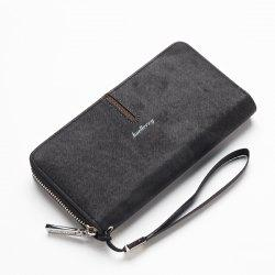 Baellerry Multi-Function Men's Hand Bag PU Leather Long Zipper Wallet Credit Card Holder -