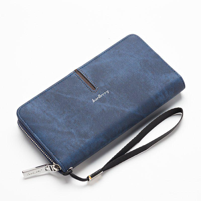 Shop Baellerry Multi-Function Men's Hand Bag PU Leather Long Zipper Wallet Credit Card Holder
