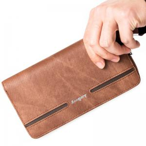 Baellerry Fashion Men's Hand Bag Long Casual Bussiness Wallet Credit Card Holder -
