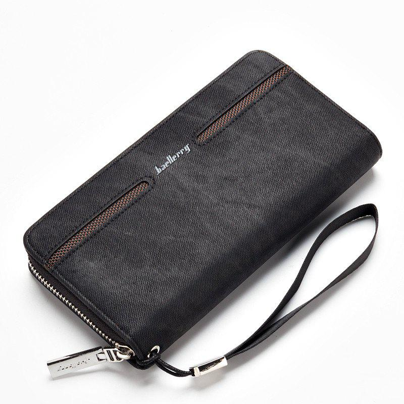 New Baellerry Fashion Men's Hand Bag Long Casual Bussiness Wallet Credit Card Holder