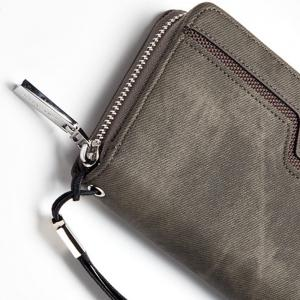 Fashion Men's Long Zipper Large Capacity Wallet Pu Leather Hand Bag -