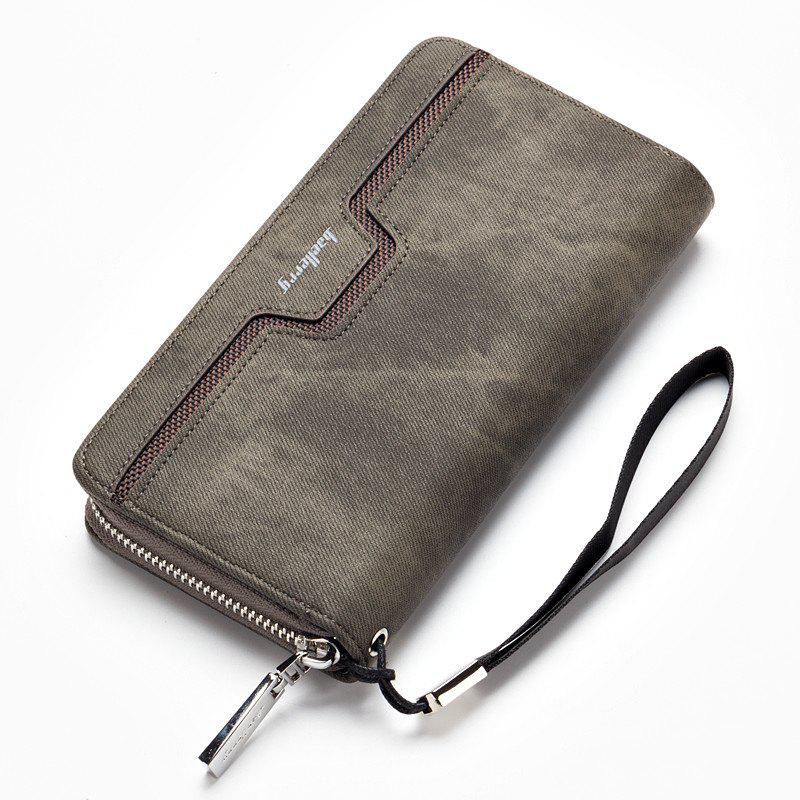 Latest Baellerry Fashion Men's Long Zipper Large Capacity Wallet Pu Leather Hand Bag