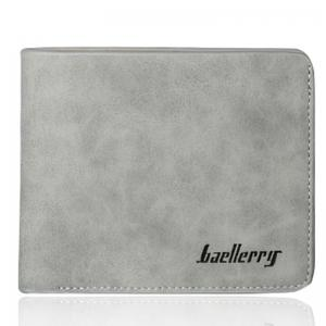 Baellerry Vintage Short PU Leather Bifold Wallet Credit Card Holder -