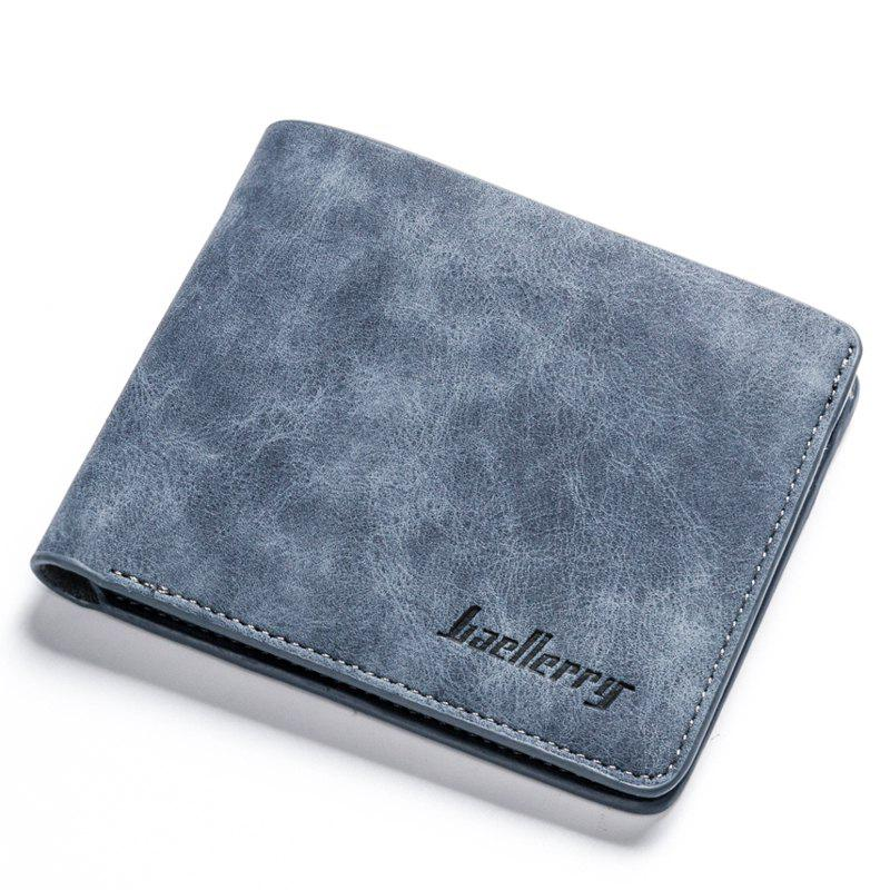 Chic Baellerry Vintage Short PU Leather Bifold Wallet Credit Card Holder