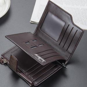Multi-function Men's PU Leather Bussiness Short Wallet Credit Card Holder -