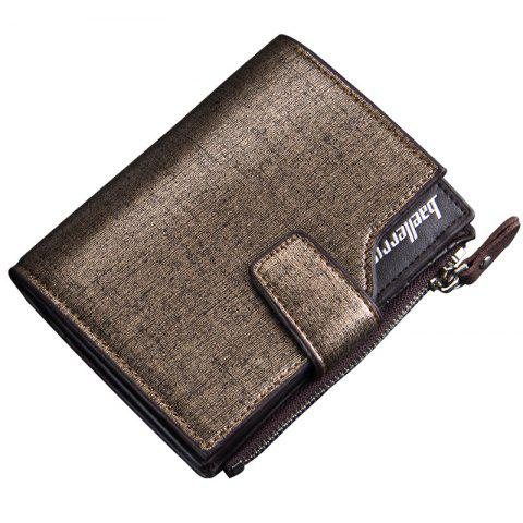 Fancy Multi-function Men's PU Leather Bussiness Short Wallet Credit Card Holder