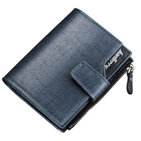 Shops Baellerry Multi-function Men's PU Leather Bussiness Short Wallet Credit Card Holder