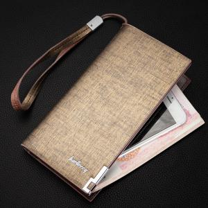 Baellerry Fashion Multi-function Large Capacity Zipper Hand Bag Business Long Wallet Credit Card Holder -