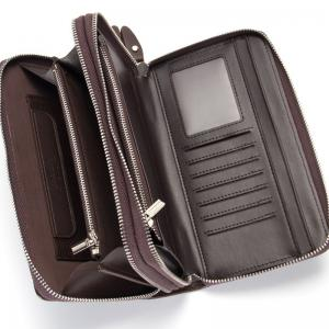 Baellerry Multi-function Men's Business Long Wallet Zipper Large Capacity Hand Bag -