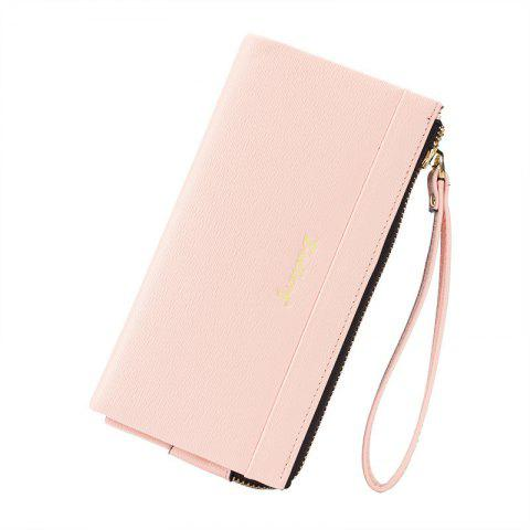Chic Multi-Function Long Wallet Zipper Embossed Purse Hand Bag for Women