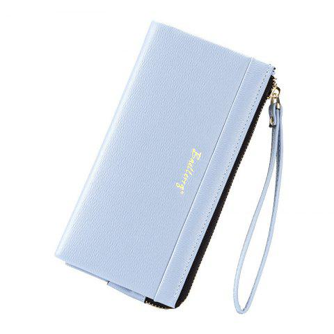 Fashion Multi-Function Long Wallet Zipper Embossed Purse Hand Bag for Women