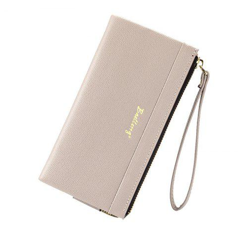 Outfit Multi-Function Long Wallet Zipper Embossed Purse Hand Bag for Women