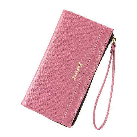 Trendy Multi-Function Long Wallet Zipper Embossed Purse Hand Bag for Women