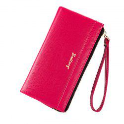 Baellerry Multi-Function Long Wallet Zipper Embossed Purse Hand Bag for Women -