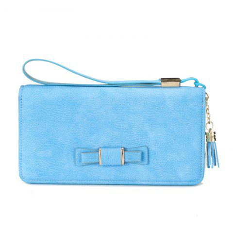 Trendy Creative Long Butterfly Purse Zipper  Large Capacity Bowknot Wallet Hand Bag
