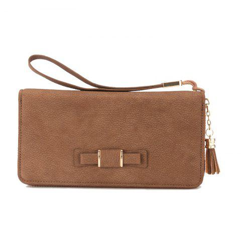 Affordable Baellerry Creative Long Butterfly Purse Zipper  Large Capacity Bowknot Wallet Hand Bag
