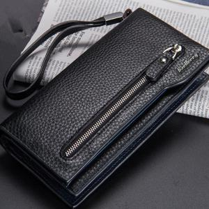 Fashion Multi-Function Men's Long Bussiness Wallet Large Capacity Hand Bag Credit Card Holder -