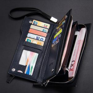 Baellerry  Multi-Function Men's Long Bussiness Wallet Large Capacity Hand Bag Credit Card Holder -
