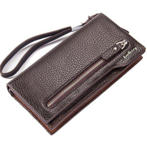 Fashion Baellerry  Multi-Function Men's Long Bussiness Wallet Large Capacity Hand Bag Credit Card Holder