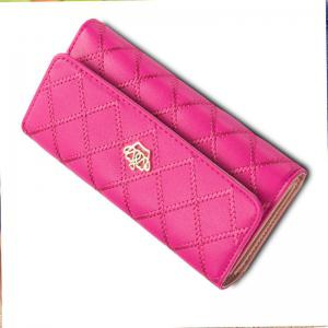 Long Trifold Plaid Crown Purse Embroidered Hand Bag Credit Card Holder -