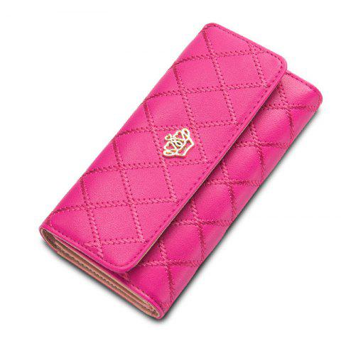Sale Baellerry Long Trifold Plaid Crown Purse Embroidered Hand Bag Credit Card Holder