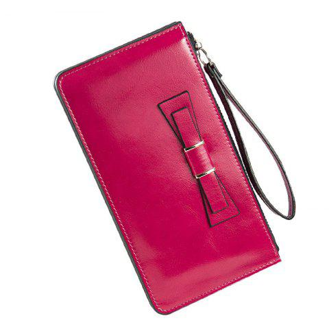 Best Women's Long Large Capacity Bowknot Purse Hand Bag Mobile Phone Package