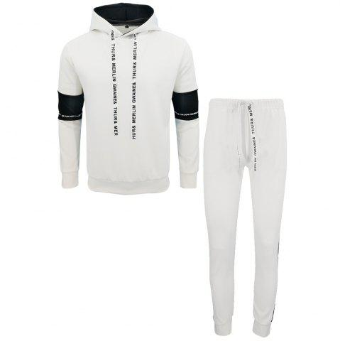 Latest Men Fall Hoodie Leisure Sport Suit Trousers
