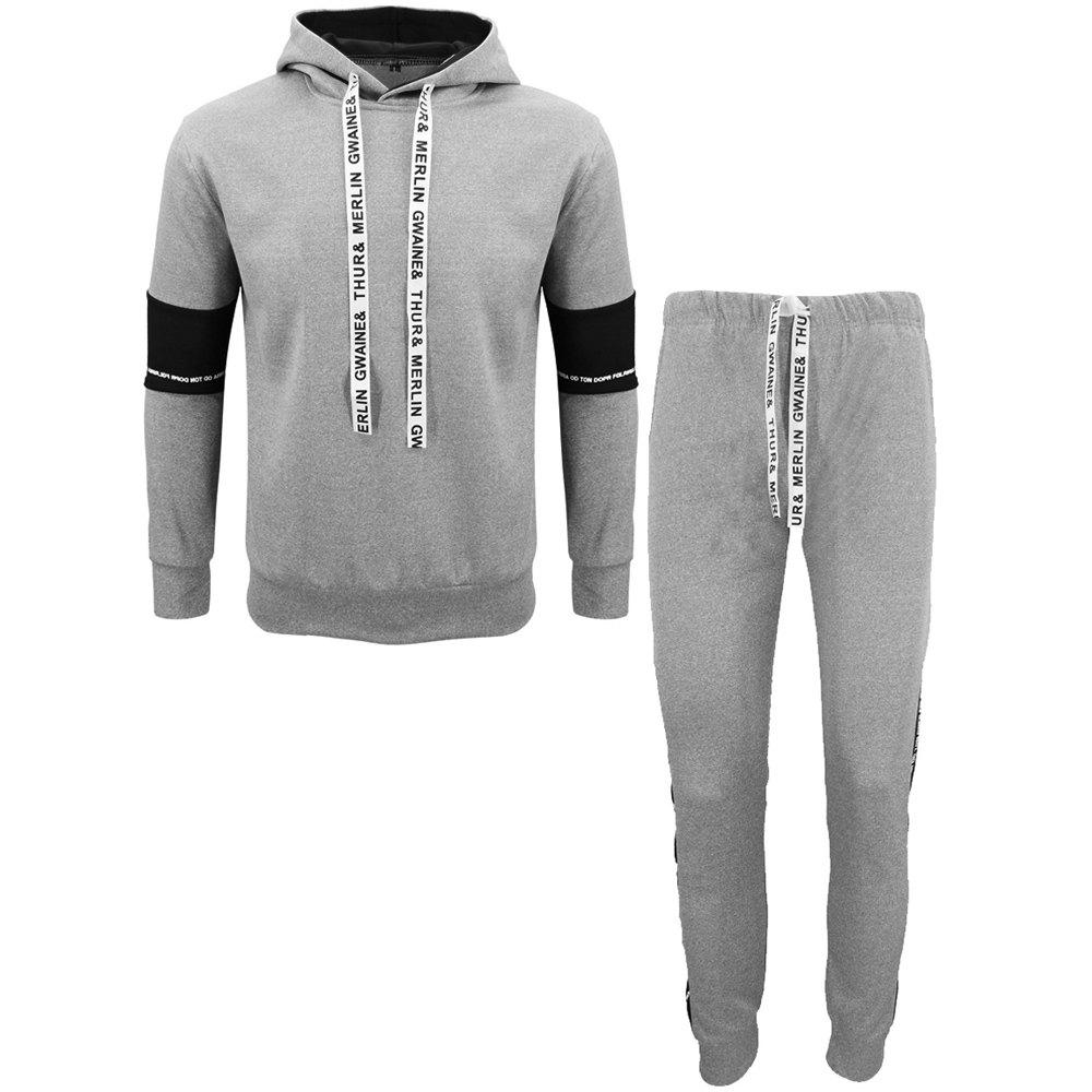 Affordable Men Fall Hoodie Leisure Sport Suit Trousers