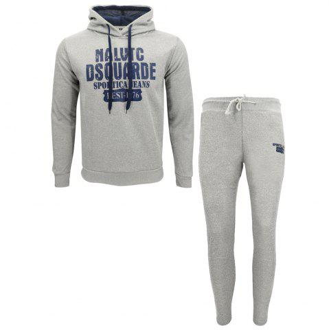 Trendy Men Fall Hoodie Leisure Sport Suit