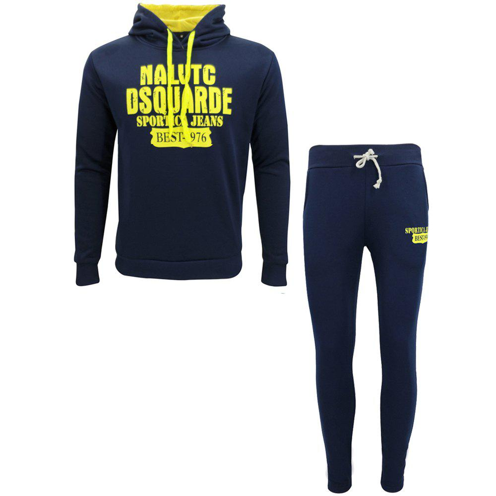 Outfit Men Fall Hoodie Leisure Sport Suit