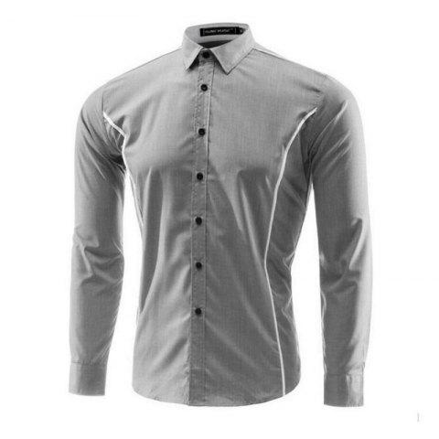 Latest Men Striped Casual Long-Sleeved Shirt