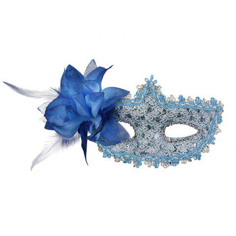 Latest Lace Diamond Sequins Lily Princess Lace Halloween Party Feather Mask