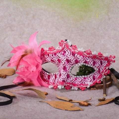Fancy Lace Diamond Sequins Lily Princess Lace Halloween Party Feather Mask