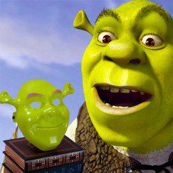 Green Shrek Latex Masks Фильм Cosplay Prop Взрослая маска для животных на Хэллоуин -