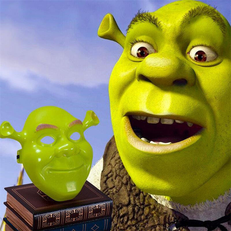 Green Shrek Latex Masks Фильм Cosplay Prop Взрослая маска для животных на Хэллоуин