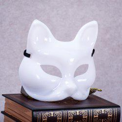 High Quality Fox Half Face Plastic White Women's Sexy Masks Cosplay Halloween Decoration -